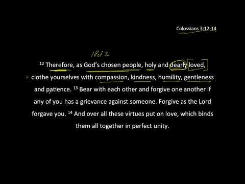 Dearly Loved People - Col 3:12-14
