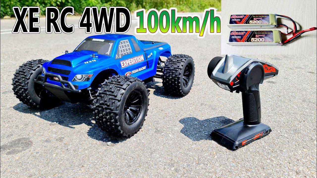 Mở Hộp và Chạy Thử Xe Điều Khiển 4WD 100km/h tỷ lệ 1/10 Động Cơ Brushless - 2 Pin 3S 5200Mah