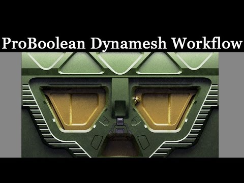 Game Assets - ProBoolean Dynamesh Workflow - Part 2