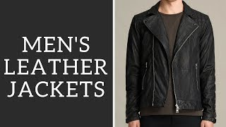 Best Men's Leather Jackets + How To Wear - Bomber, Biker, Cafe Racer