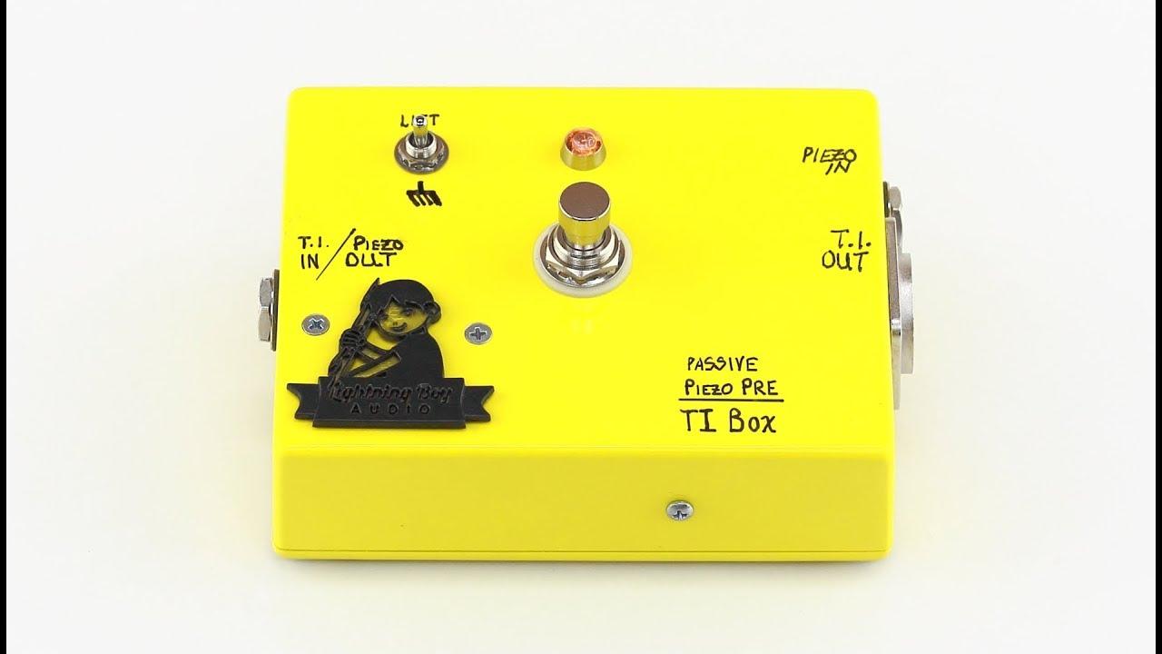3-in-1 DIY invention  Unpowered overdrive  Passive preamp for piezos  Retro  DI Box