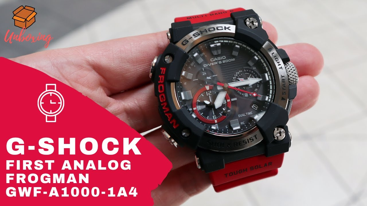 UNBOXING FIRST G-SHOCK FROGMAN ANALOG SOLAR GWFA1000-1A4
