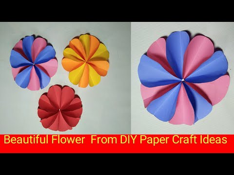 Beautiful Craft Ideas | Beautiful Flowers | From Paper Craft Ideas | Watch Viral India |
