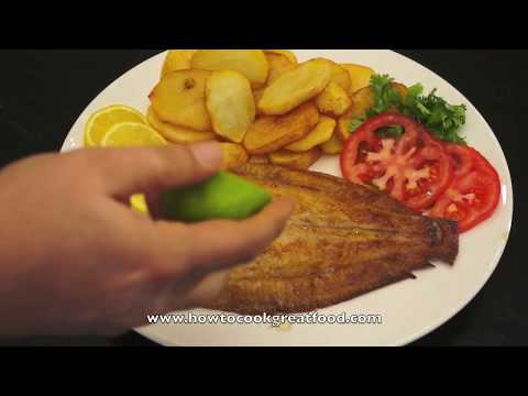 How To Cook Lemon Sole - Sole Recipe - British Fried Fish - English Fish N Chips - Dover Sole