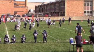 Kameron Hazelette, #50, in his Second 2015 Pop Warner game playing Offense thumbnail