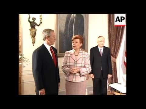 Bush receives award from Latvian president