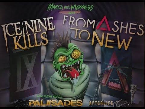 Ice Nine Kills and From Ashes To New co-headline tour w/ Palisades, Afterlife + Hawk!