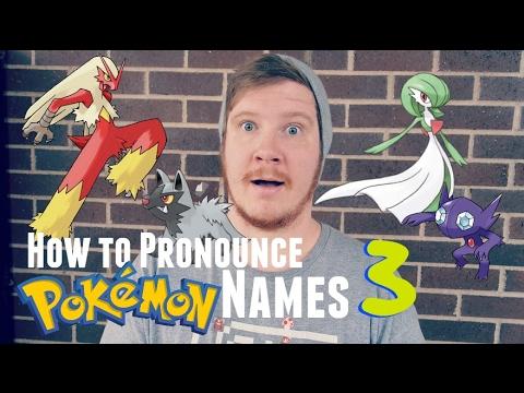 How to Pronounce Pokémon Names: Gen 3