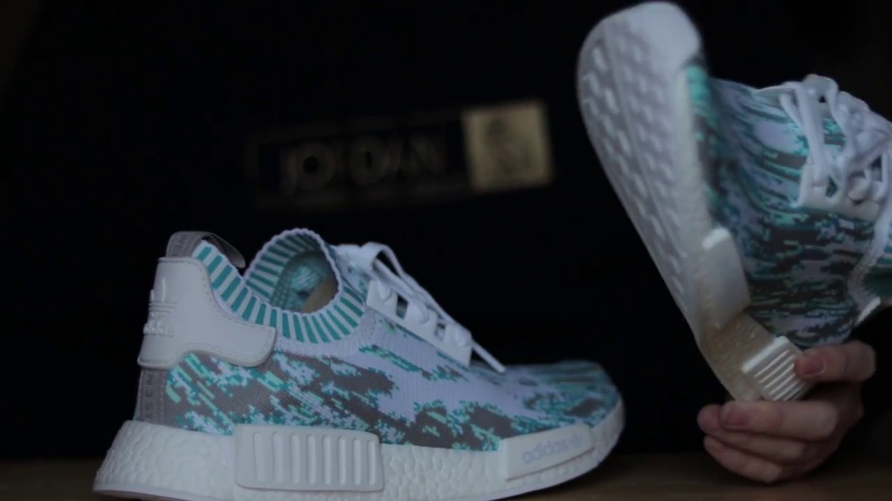 21ece776a8b57 ADIDAS NMD R1 SNEAKERSNSTUFF DATAMOSH CLEAR AQUA REVIEW - YouTube
