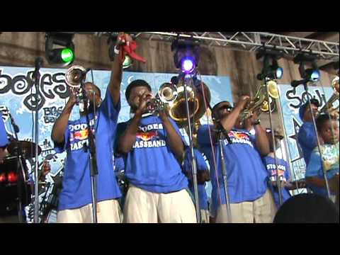 Stooges Brass Band perform