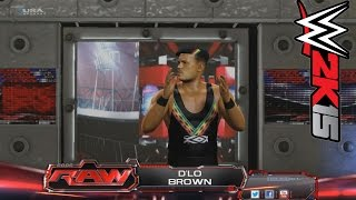 WWE 2K15 PC MOD: WWE RAW D'Lo Brown vs Sandow