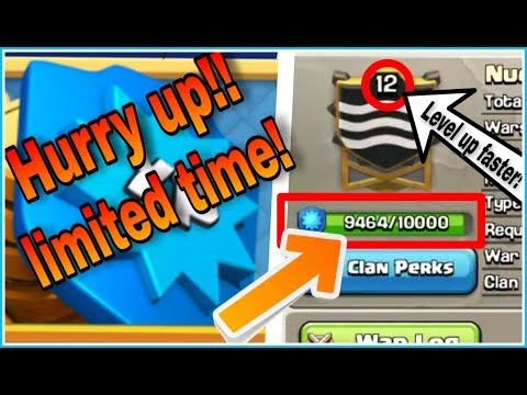 NOW, INCREASE CLAN PERKS FASTER | HURRY UP!! LIMITED TIME | CLASH OF CLANS