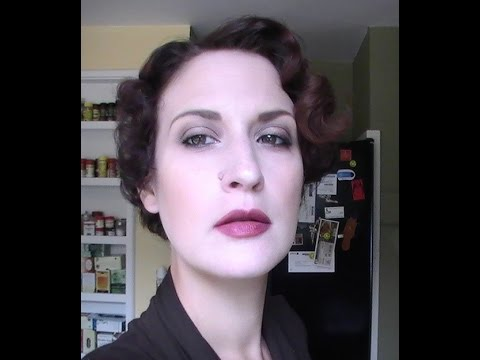 1930s pin curl set on super short hair youtube 1930s pin curl set on super short hair urmus Images