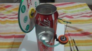 Motor Stirling con latas de gaseosa - Soda Can Engine - самодельный двигатель Стирлинга