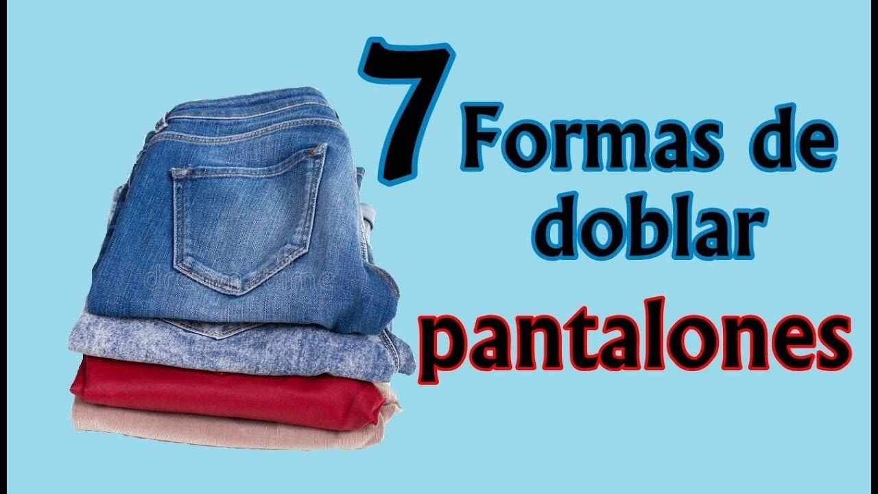 deaf7355d Como doblar pantalones. 7 Formas diferentes de hacerlo. - YouTube