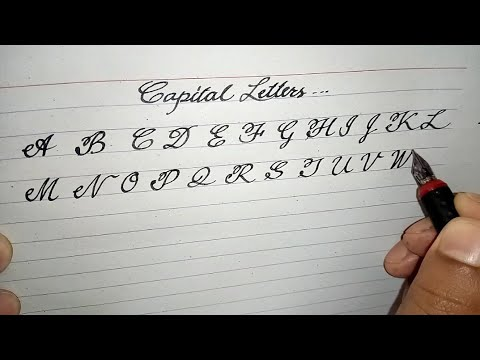 Simple Cursive Capital Letters   Cursive Writing Capital Letters   Cursive Writing Basic Lesson