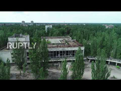 Drone captures grim view of ghost town of Pripyat in