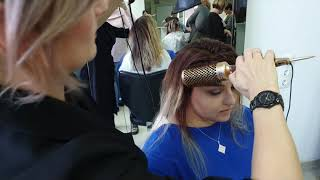 Полировка волос феном