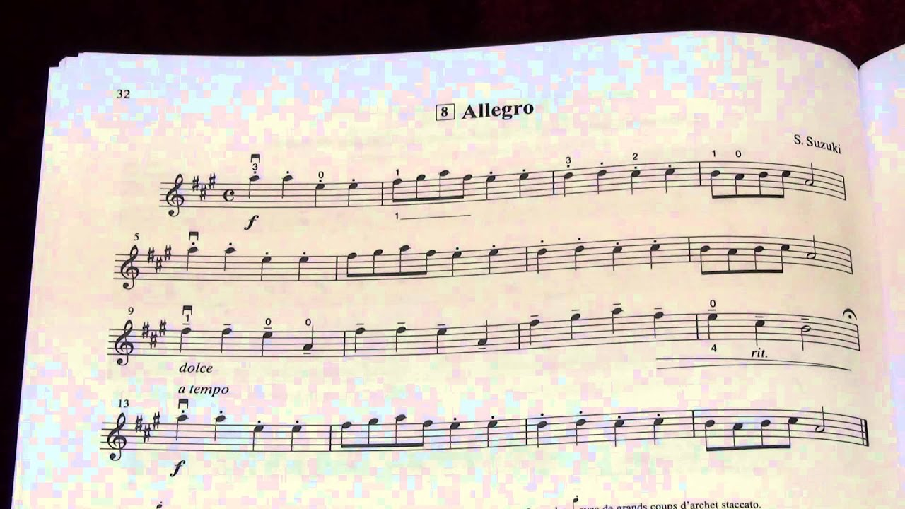 suzuki violin school vol 1 no 8 allegro youtube
