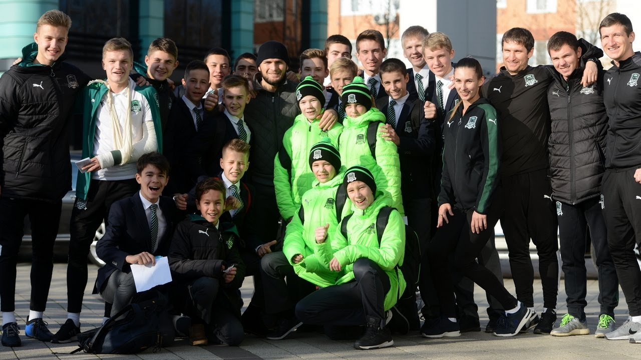 Хабиб Нурмагомедов посетил Академию и стадион ФК «Краснодар»