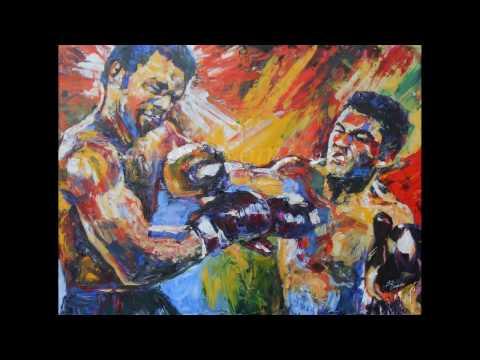 Ali v Foreman in Style of Leroy Neiman