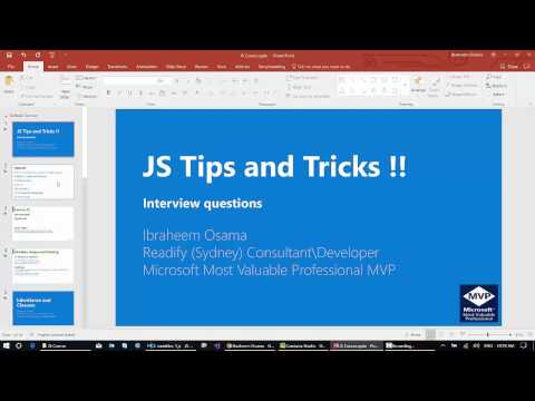 Introduction to Javascript variables and hoisting (Arabic)- مقدمة لمتغيرات  الجافاسكريبت