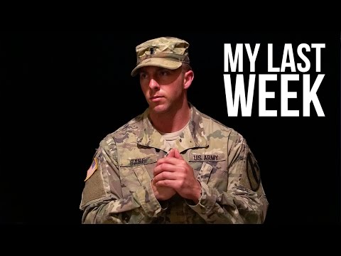My Last Week In The Army