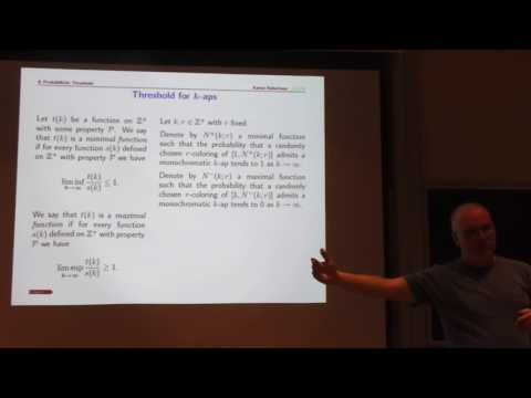 Probability and Ramsey Theory part 1