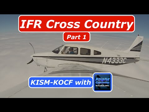 IFR Flight| Part 1| KISM-KOCF| PA28| ATC Audio