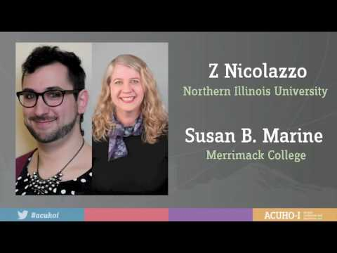 Journal Award Recipients Susan B. Marine and Z Nicolazzo