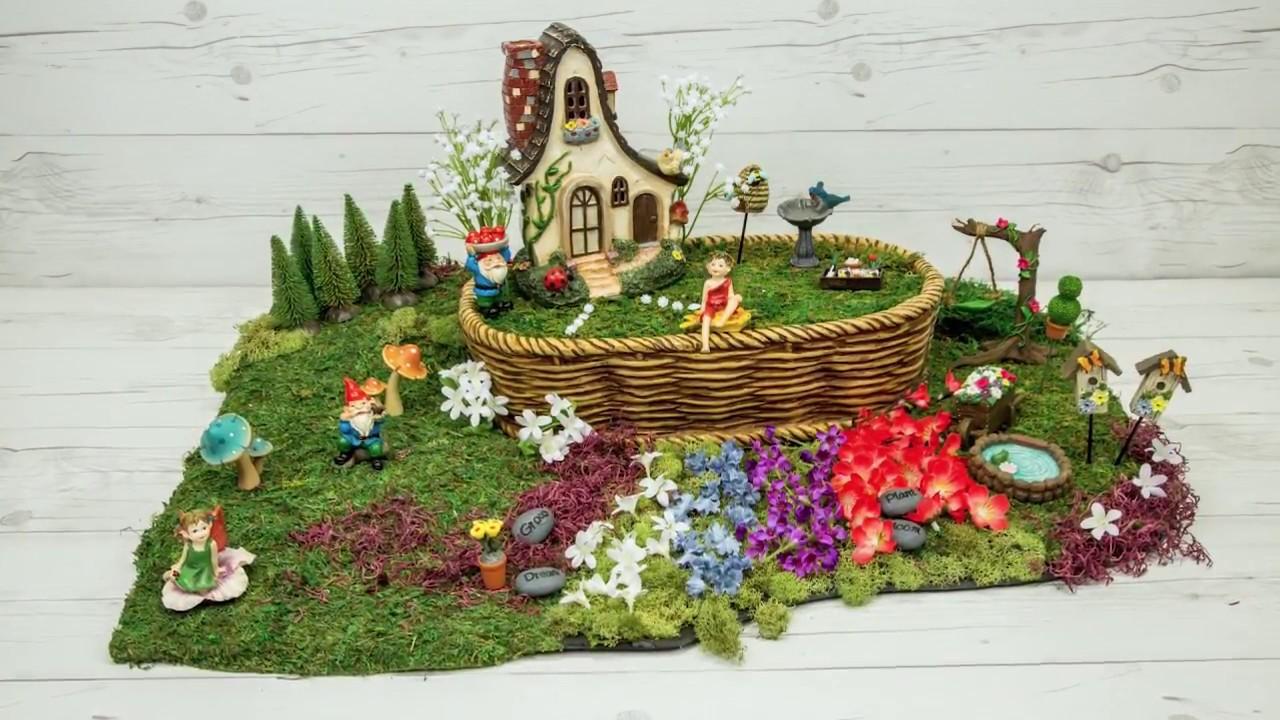 Bon How To Make A Basket Gnome Fairy Garden