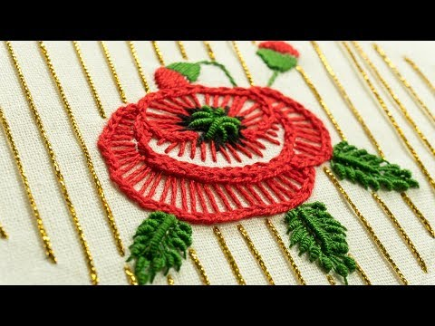 Hand Embroidery Flower Stitch by DIY Stitching | 자수