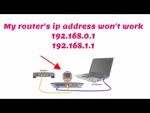 Router ip address doesn't work /192.168.1.1 page isn't working- How to fix