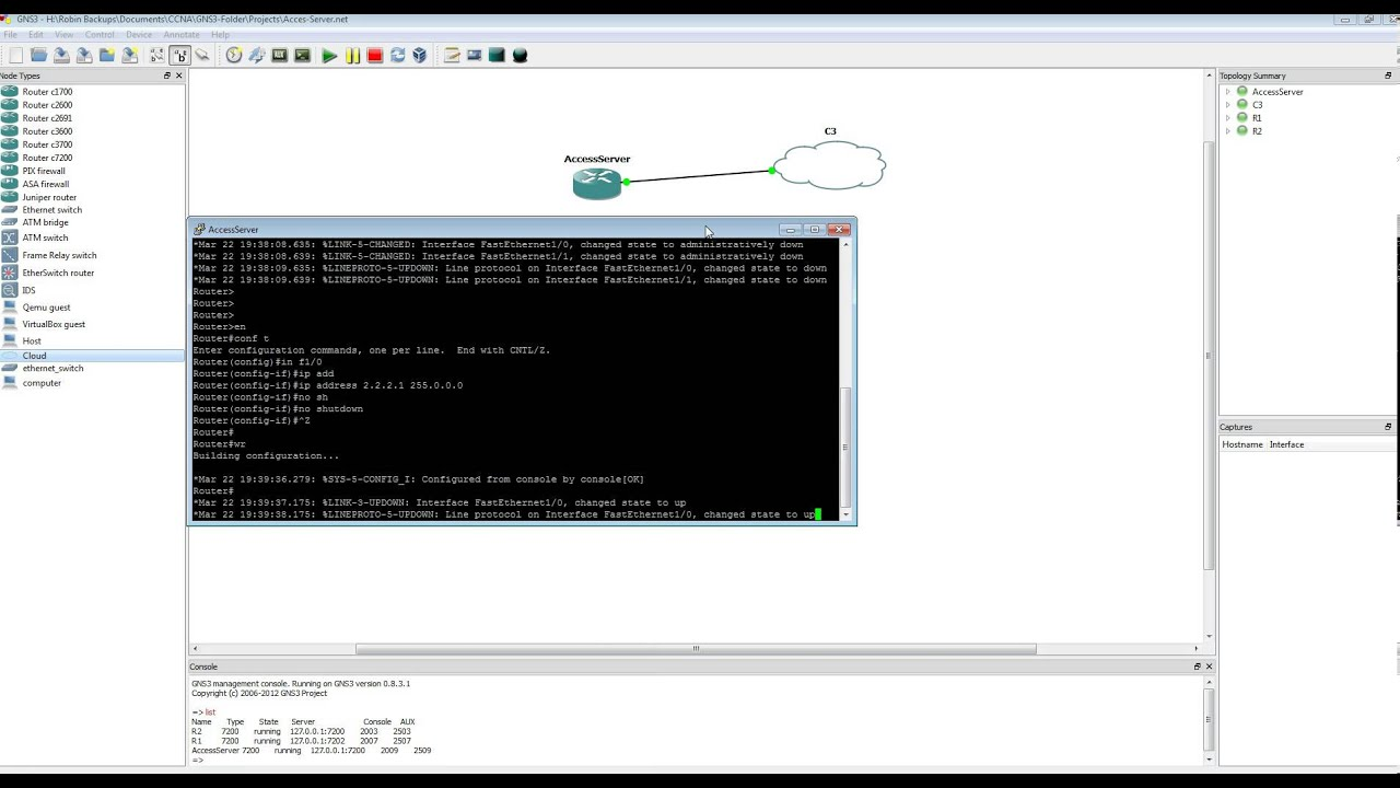 Configure Cisco Access Server in GNS3 - How To