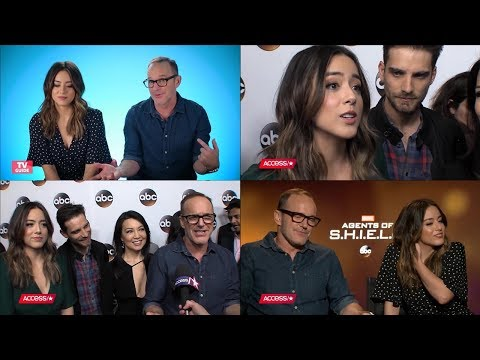 Chloe Bennet and Clark Gregg talking about Episode 100 and Fitzsimmons
