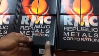 new republic metals 1 oz gold bar unboxing
