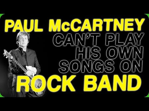 Paul McCartney Can't Play His Own Songs on Rock Band (Guitar Troubles)