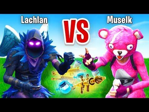 Lachlan VS Muselk Rock Paper Scissors CHALLENGE In Fortnite Battle Royale