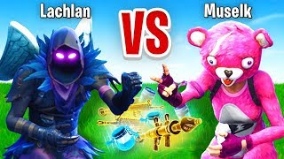 Lachlan VS Muselk Rock Paper Scissors CHALLENGE In Fortnite Battle Royale