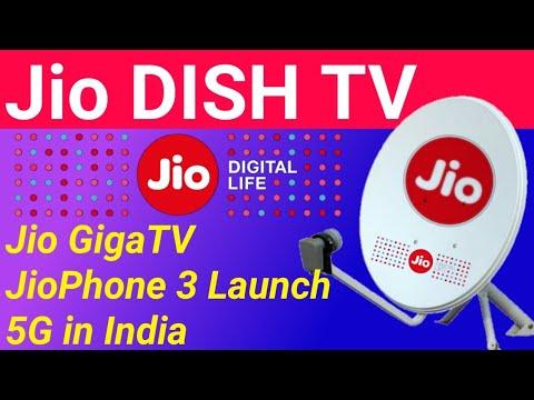 Jio Dish TV(Jio DTH Set Top Box Launch Date) JioPhone 3 Launch,5G in  India,Best DTH Dish TV Tata Sky