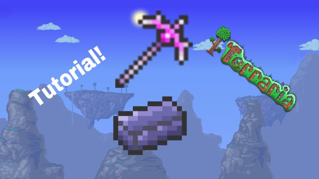 Terraria: How to get the Nightmare Pickaxe!!!
