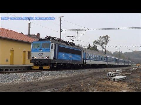 Vlaky na zastávce Ejpovice 27.10.2014