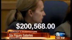 Contact 5: County employees with six figure salaries