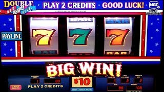 BIG WIN on High Limit DOUBLE Red White Blue 3 REELS Slot Machine w/$20 Max Bet |Live Slot  $20 Bet