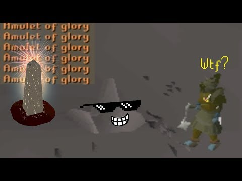 Pretending To Be a Rock at Fountain of Rune (OSRS)