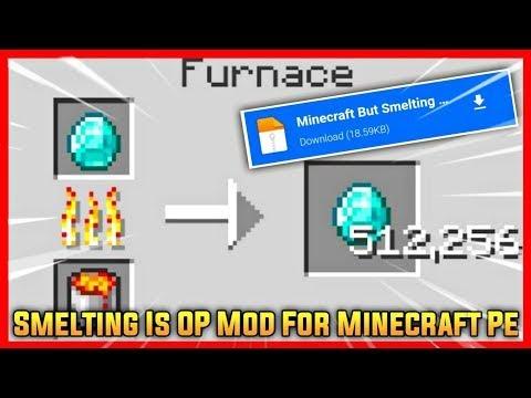 Minecraft  Smelting Multiplies Items Mod   Minecraft but Smelting Is OP   Minecraft Pe Smelting Mod