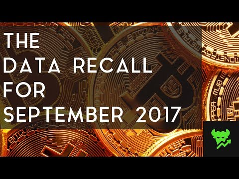 THE DATA RECALL | Cryptocurrency Analysis For September 2017