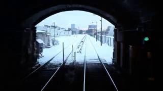 Вид из кабины машиниста на станции питерского Метро
