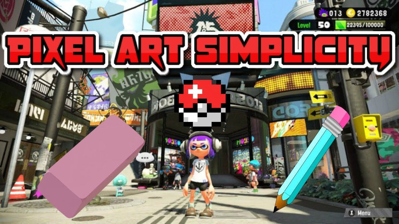 Splatoon 2 Simple Method For Creating Pixel Art