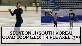 QUAD LOOP 4Lo and TRIPLE AXEL 3A From Seoyeon JI South Korea Ladies Figure Skating